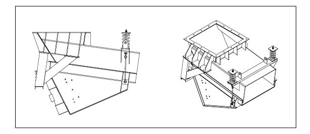 Electromechanical Pan Feeder with Chute Work Drawing